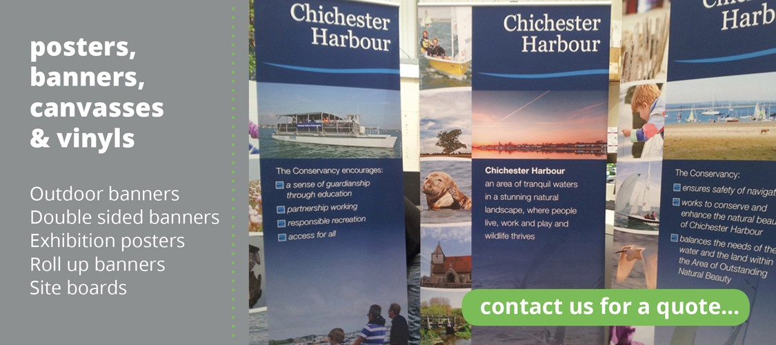 outdoor banners, double sided banners, exhibition posters, roll up banners