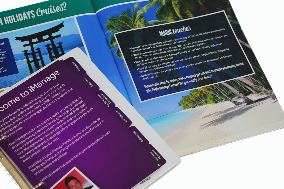 printed folder with tabs virgin holidays the design digital